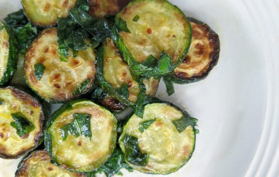 Pan Fried Zucchini & Basil