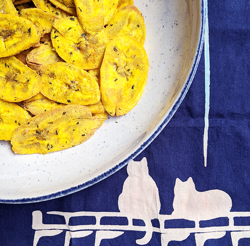 Baked Turmeric Plantain Chips