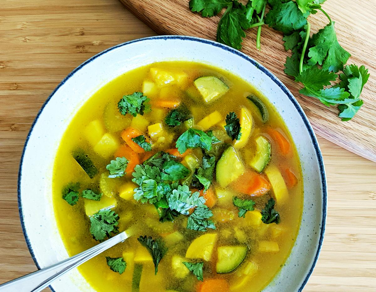 Nourishing Turmeric Vegetable Soup (aka Sick Sad Soup)