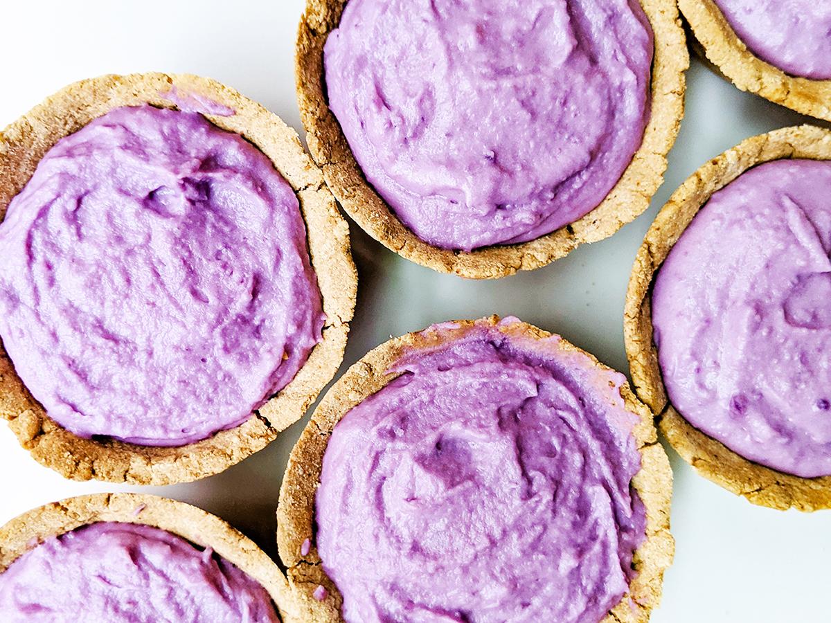 Okinawan Purple Sweet Potato Tarts (AIP/Paleo)