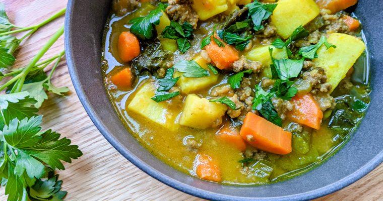 Ground Bison & Vegetable Stew
