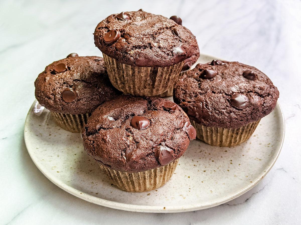Paleo Double Chocolate Banana Muffins (Top 8 Free, Cassava-Free & Coconut-Free)