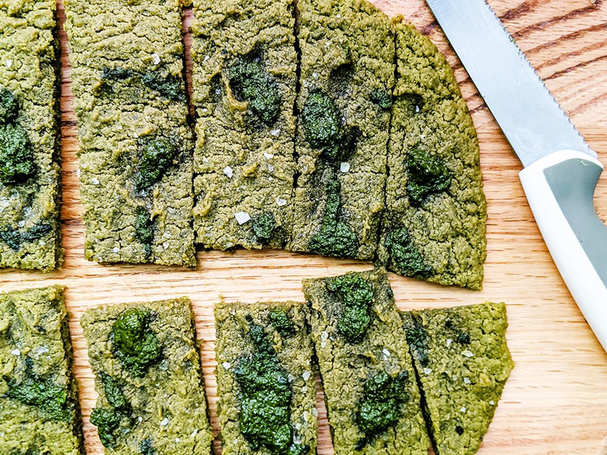 Gluten-Free Pesto Flatbread (AIP & Yeast-Free)