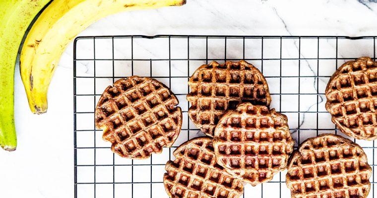 Flourless Plantain Waffles (AIP & Vegan)