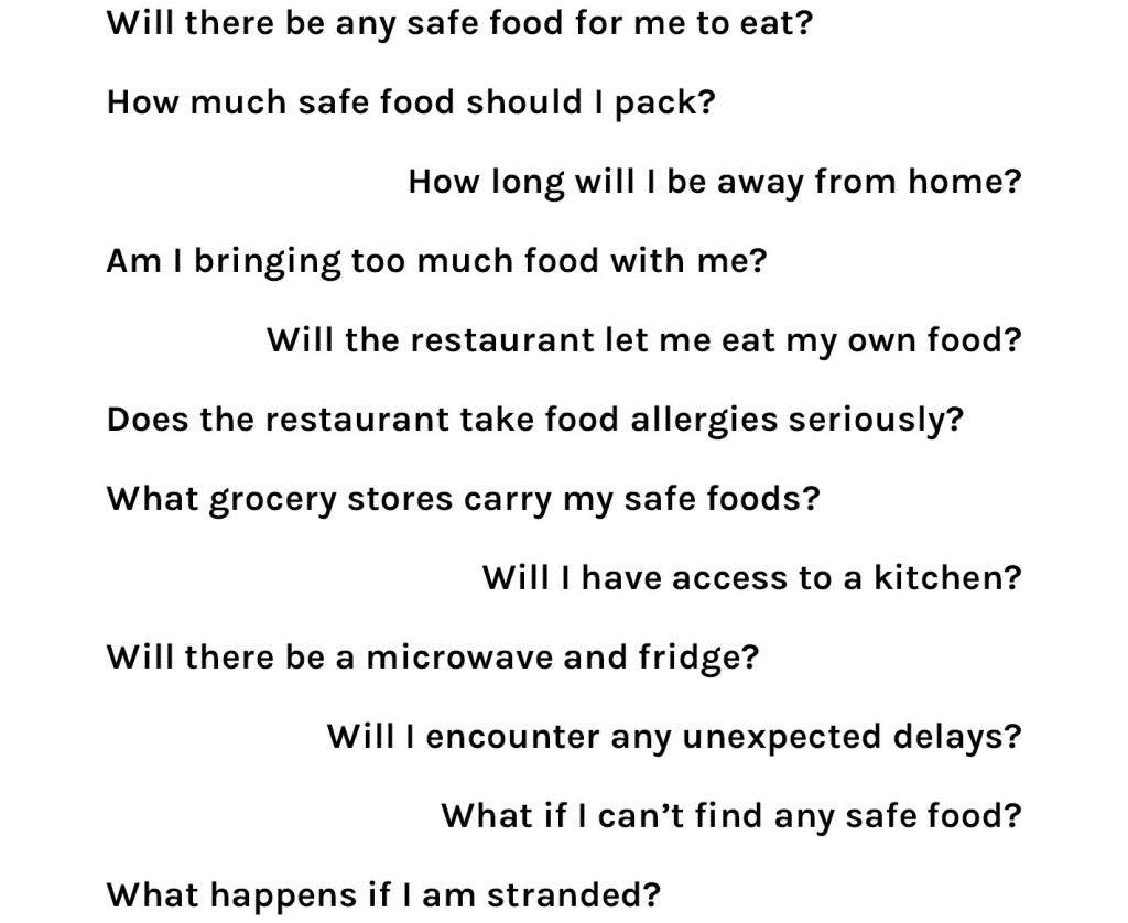 food allergies travel anxiety