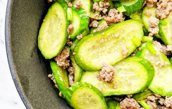 Simple Cucumber & Beef Stir Fry